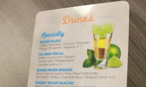 flat plastic menu