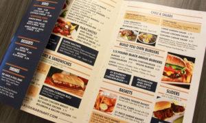 plastic menu